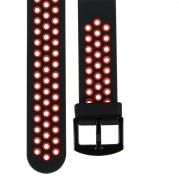 Star 2 玩色造型22mm快拆錶帶【黑紅】